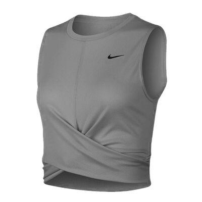 Nike Dry Women's Cropped Training Tank-Dark Grey Heather