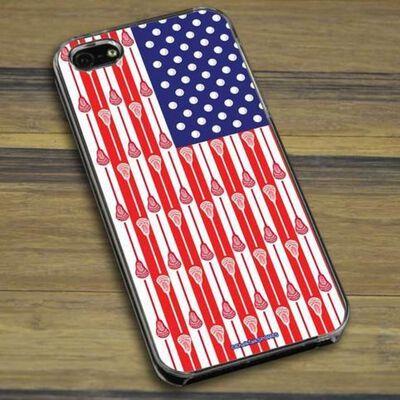 Chalk Talk Lacrosse Flag Phone Case