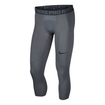 Men's Nike Pro 3QTR Tights-Grey