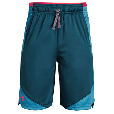 Under Armour Boys Stunt 2.0 Short-Petrol Blue-Red
