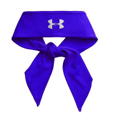 UA Armour Tie Headband-Royal