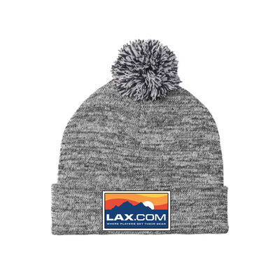 Lax.com Pom Pom Beanie with Patch