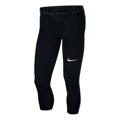 Men's Nike Pro 3QTR Tights-Black