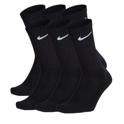 Nike Cushioned Crew Socks (6 Pair) Black