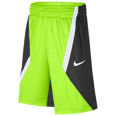 Nike Dry Boys Lacrosse Shorts-Volt-Black-White