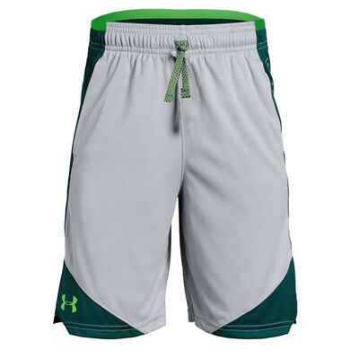 Under Armour Stunt 2.0 Short-Mod Gray-Zap Green
