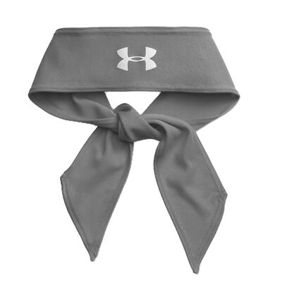 UA Armour Tie Headband-Grey
