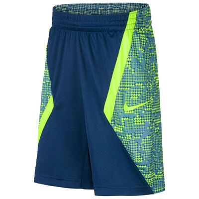 Nike Dry Boys Printed Lacrosse Shorts-Blue Force-Volt
