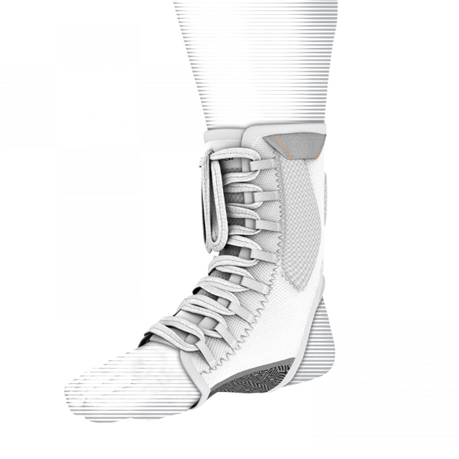 Shock Doctor Ultra Gel Lace Ankle Support-White