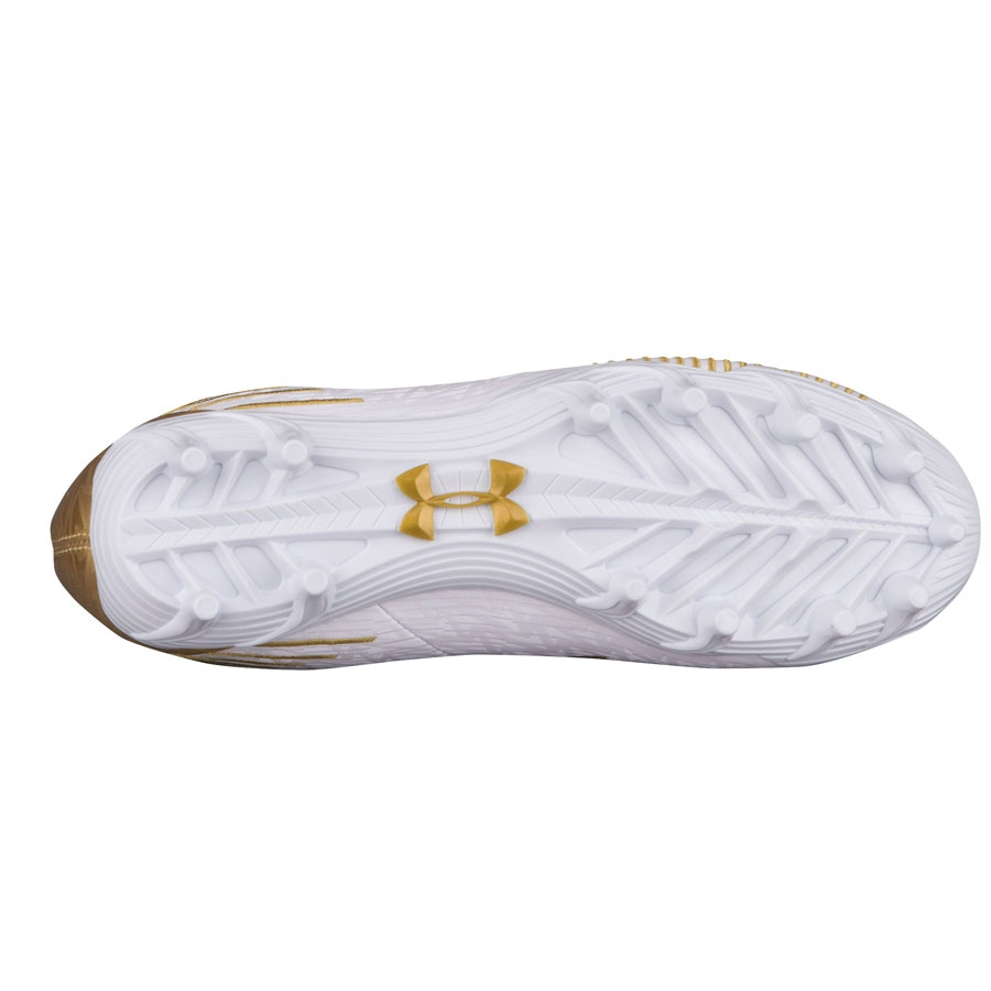 UA Women's Highlight Lacrosse Cleats-White-Gold
