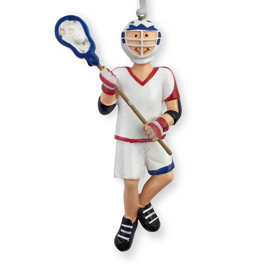 Male Lacrosse Player Resin Figure Ornament