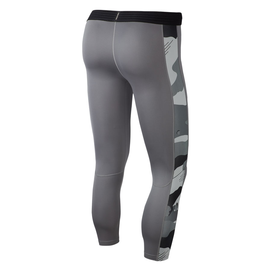 Nike 3/4 Camo Training Tights-Grey