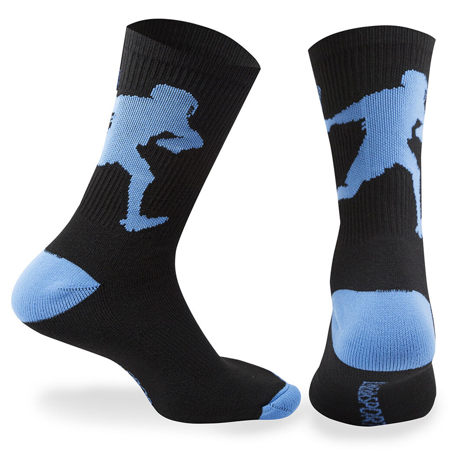 Guys Lacrosse Woven Mid-Calf Socks - Player (Navy/Light Blue)