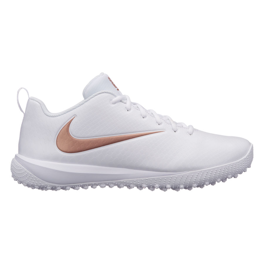 Nike Vapor Varsity Low Turf Lax-White-Metallic Red Bronze