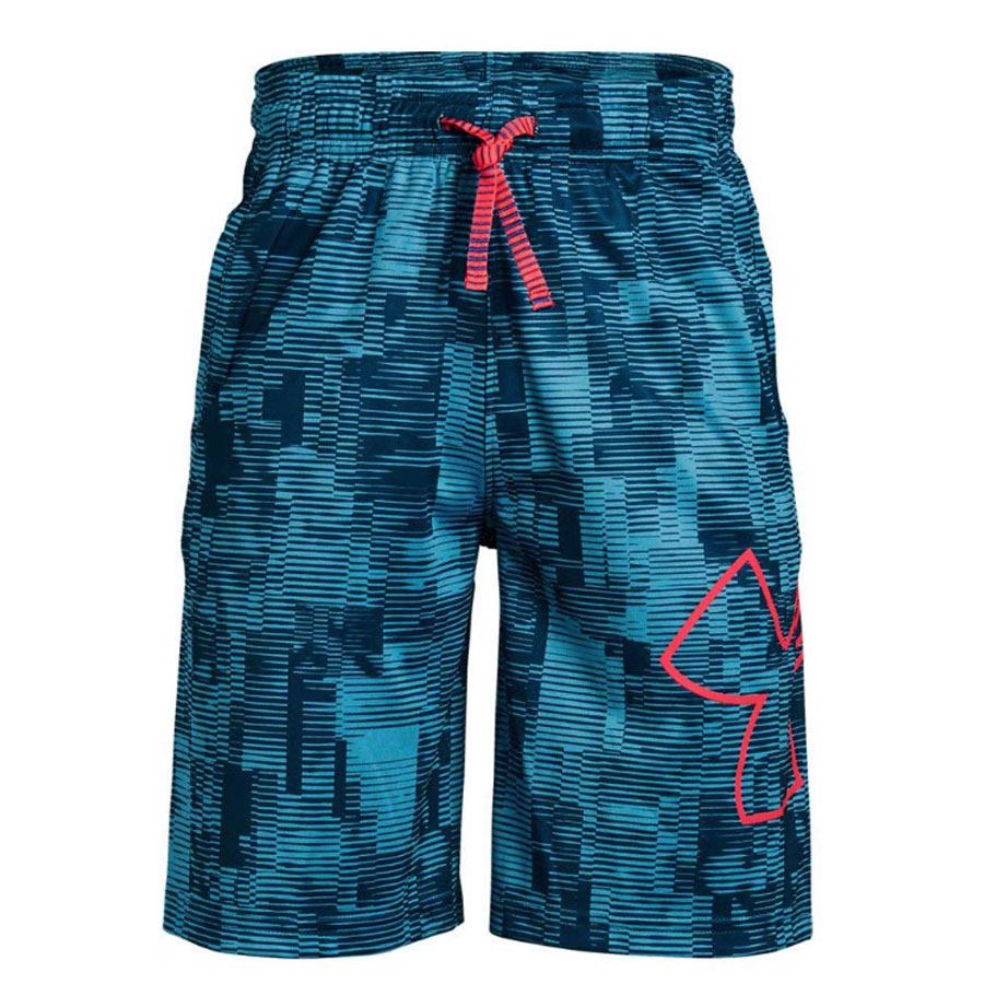 Under Armour Renegade 20 Printed Short - Ether Blue/Red Rage