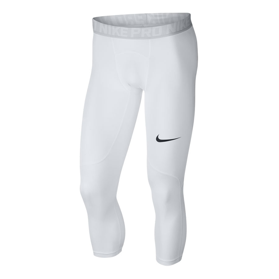 Men's Nike Pro 3QTR Tights-White